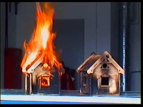 защита древесины от огня