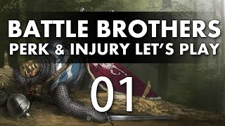 Let's Play Battle Brothers - Episode 1 (Perk & Injury Update)