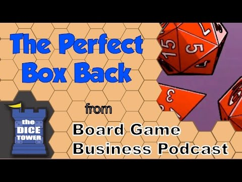 Board Game Business Podcast - The Perfect Box Back