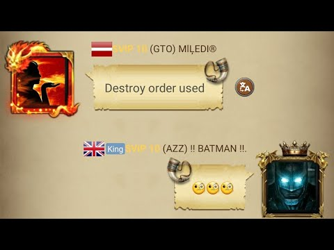 Clash Of Kings : Enemy Noticed Destroy Order Was Used 💔