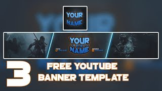 3 Free Youtube Banner Template #12 + LOGO