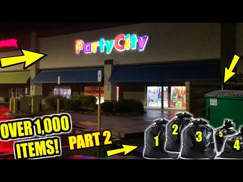 WE WENT DUMPSTER DIVING AT PARTY CITY AND FOUND *5 FULL BAGS! (UNBOXING PART 2)
