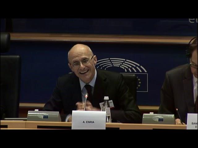 Audiencia pública con Andrea Enria, presidente del Consejo de Supervisión del BCE