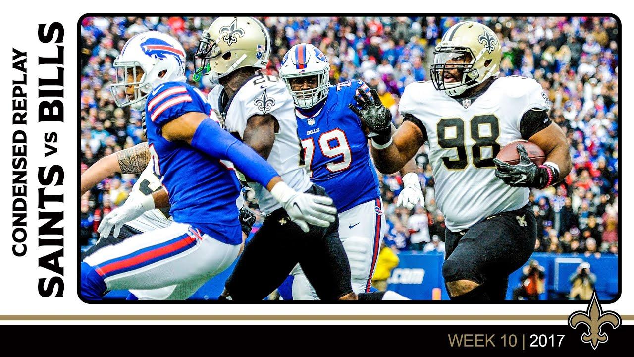 Saints vs Bills THROWBACK Replay | Week 10 2017