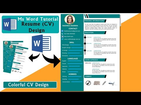 MS WORD TUTORIAL || How to make Awesome Resume(cv) Design in ms word 2019