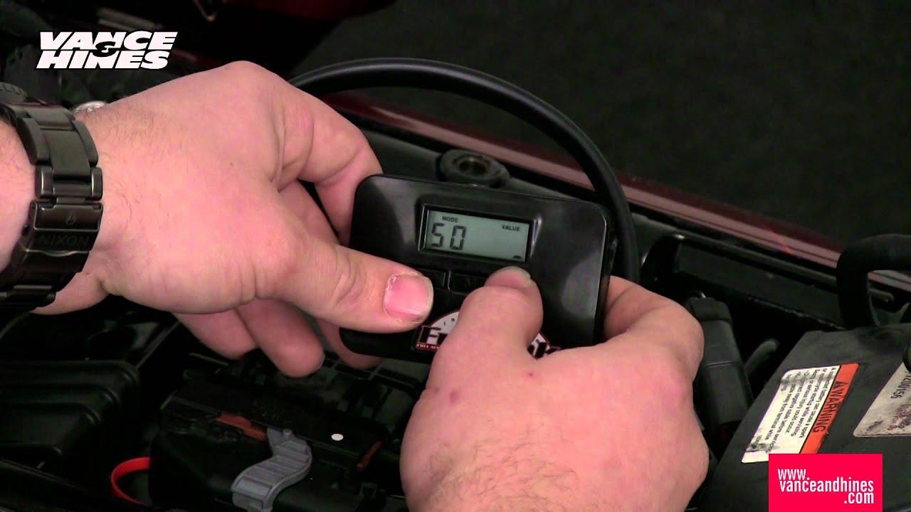 Fuelpak LCD Programming Instructions, 2012 Harley-Davidson CVO Touring