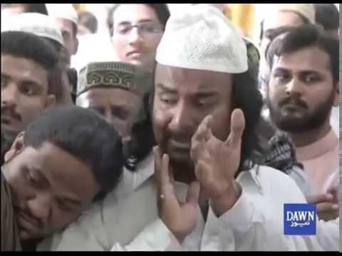 عید کے روز امجد صابری کے گھر تعزیت کرنے والوں کا تانتا