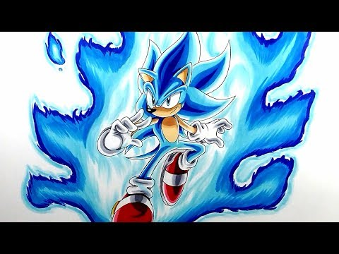 Drawing Super Sonic Blue! (SSGSS)