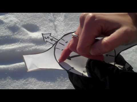 How to find north using a watch: Solar navigation, Wilderness survival skills