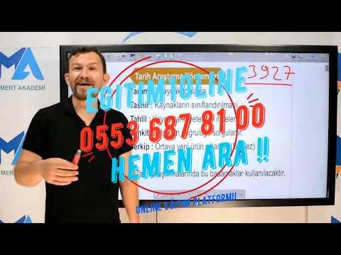 Eğitim10line (egitim10line.com) Tarih Dersi Tanıtım Video'su 1 (Mustafa Doğan)