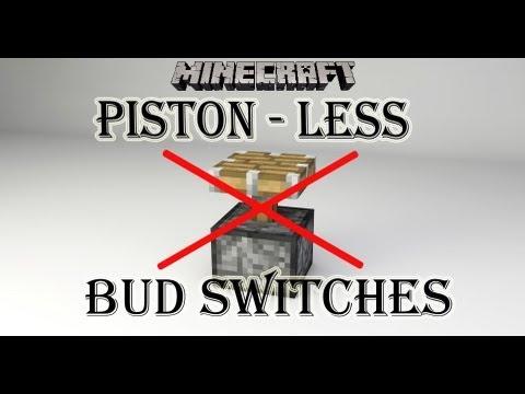 Minecraft Tutorial: Smallest Piston-less BUD Switches