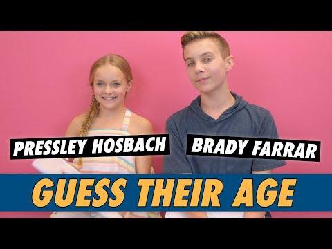 Pressley Hosbach Vs. Brady Farrar - Guess Their Age