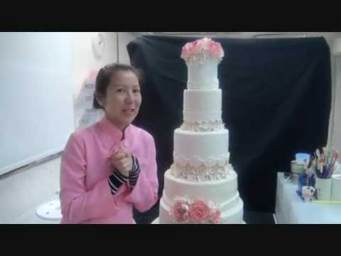 how to make a 5 layer wedding cake 5 tier garden wedding cake wmv 15789