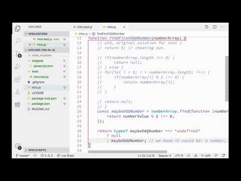 Exploring TDD With JS