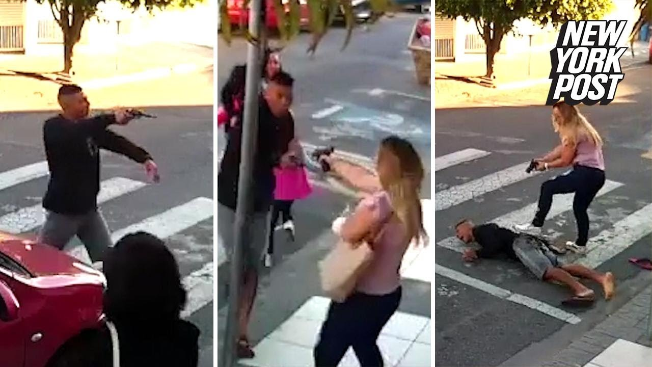 Hero Mom Saves Mother's Day by Shooting Armed Robber Outside School | New York Post