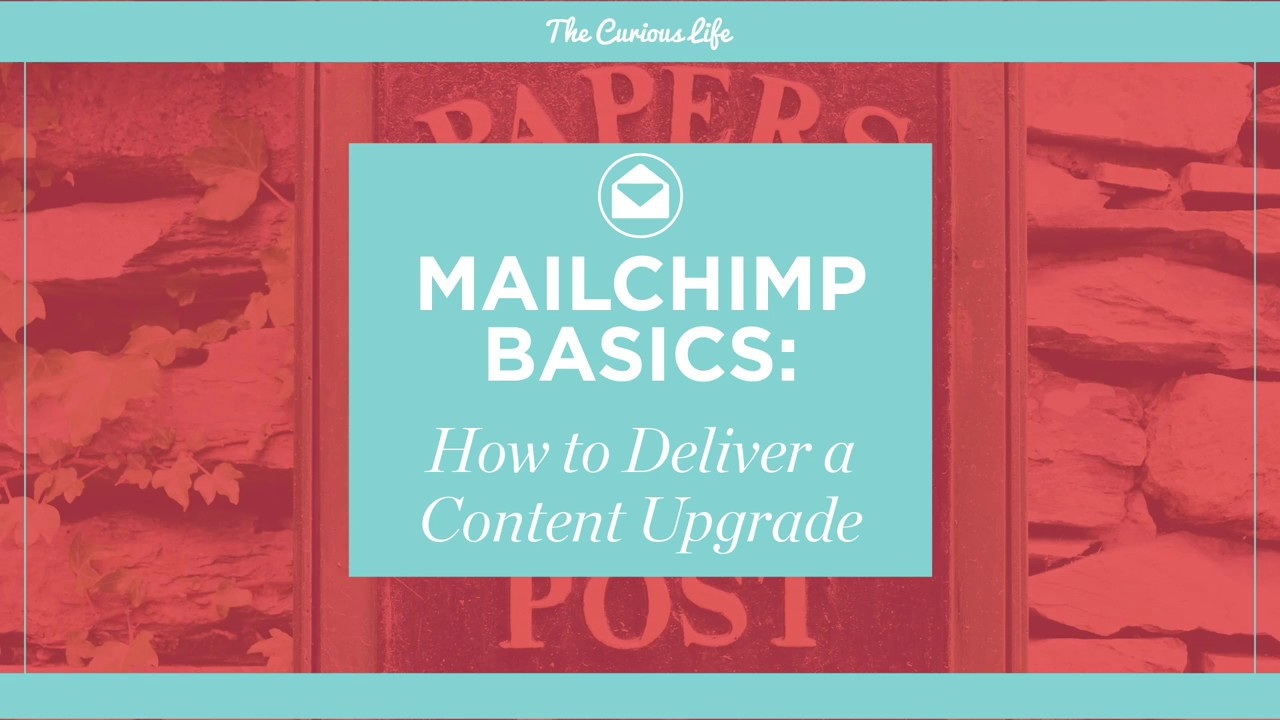 MailChimp Basics How To Deliver A Content Upgrade