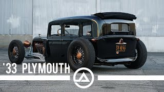 1933 Plymouth HotRod Doing Donuts, Burnouts and Shredding Tires