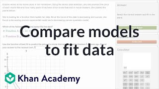 Comparing Models To Fit Data