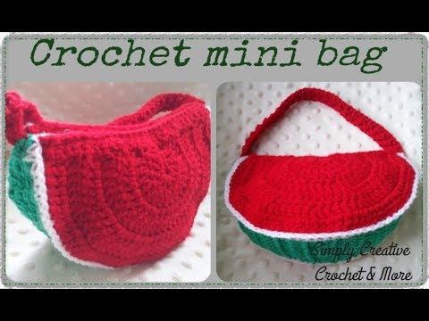 3f2476d539054 How to crochet mini bag   purse