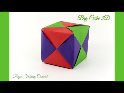 Origami 3D Cube - YouTube | 360x480