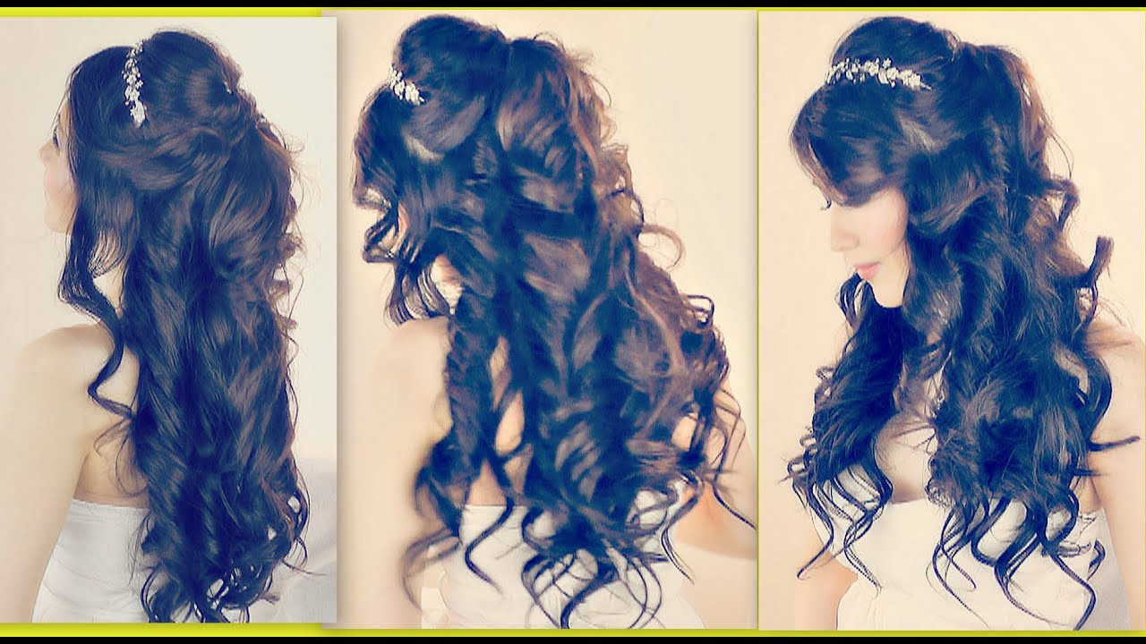 Romantic Hairstyles Half Up Half Down Updo For Prom Wedding