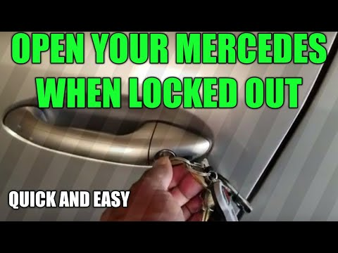 How To Open Your Mercedes When Locked Out...