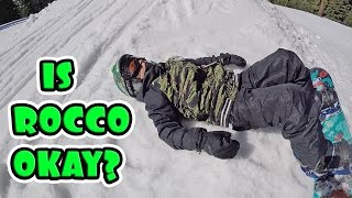 KID HEAD INJURY ON SNOWBOARD!