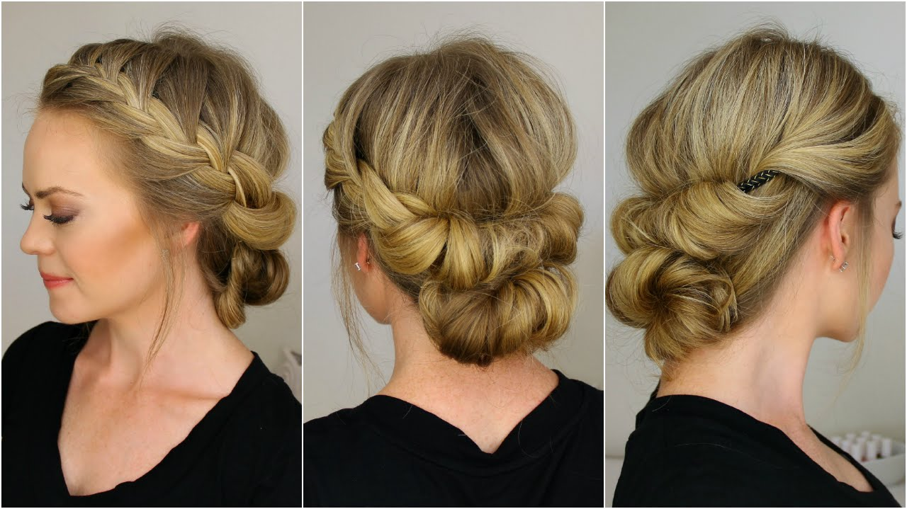 Tuck and Cover French Braid Half with a Bun  YouTube - Flapper Hairstyles For Long Hair