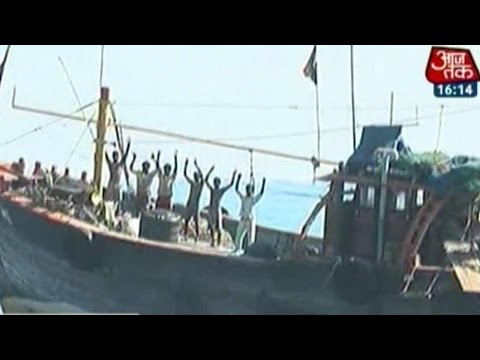 Pakistan Boat Intercepted By Indian Navy & Coast Guard