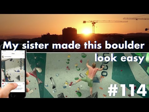 MY SISTER MADE THIS BOULDER LOOK EASY | VLOG #114