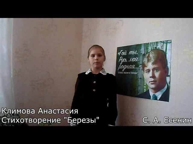 Изображение предпросмотра прочтения – АнастасияКлимова читает произведение «Есенин С., Береза» С.А.Есенина