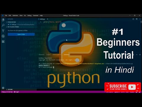 Python tutorial for beginners #1 - VS Code setup for python [hindi] thumbnail