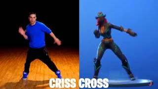 New Leaked Fortnite Emote (Criss Cross) 100% In Sinc In Real Life Dance