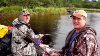 рыбалка на реке Вал  о. Сахалин 2016 г(Еще одно путешествие команды с Урала на о. Сахалин. За тайменем., 2016-12-07T04:45:19.000Z)