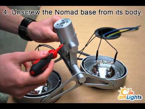Modular Nomad Lamp : Modular lighting nomad how to base flange youtube