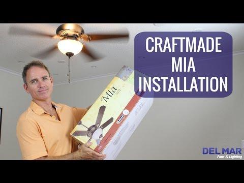 craftmade mia ceiling fan installation youtube Craftmade Fans Wiring Diagrams craftmade ceiling fan switch