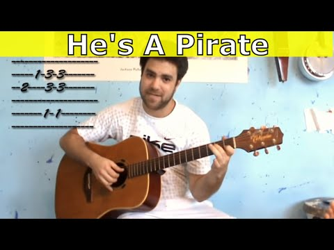 Fingerstyle Tutorial: Pirates of the Caribbean - Guitar Lesson w/ TAB (aka He's A Pirate)