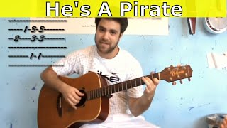 Fingerstyle Tutorial: Pirates of the Caribbean - Guitar Lesson w/ TAB (aka He