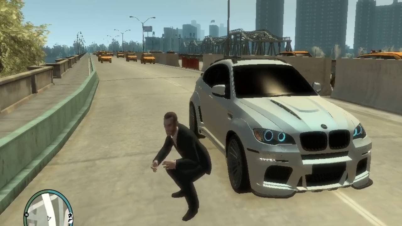 GTA IV Music Panda BMW X6 White & Black - YouTube
