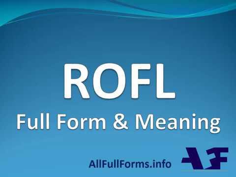 ROFL Full Form | ROFL का पुरा नाम