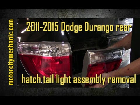 2017 Dodge Durango Rear Hatch Tail Light Embly Removal