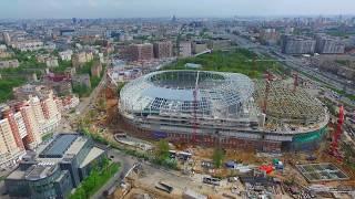 Петровский путевой дворец, парк и строящийся стадион Динамо