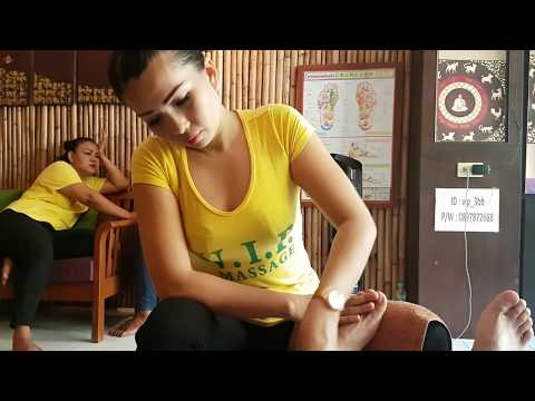 Thai reflexology foot massage, Pattaya, Thailand | ASMR massage