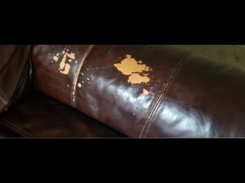 Brown Leather Sofa Color Restoration How To Reupholster Cushions Fix Couch Fading Youtube