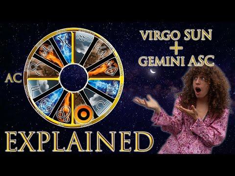 ☉ Sun in Virgo  Gemini Asc rising sign HD