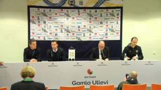 MFFtv: Presskonferensen efter den avbrutna matchen på Gamla Ullevi