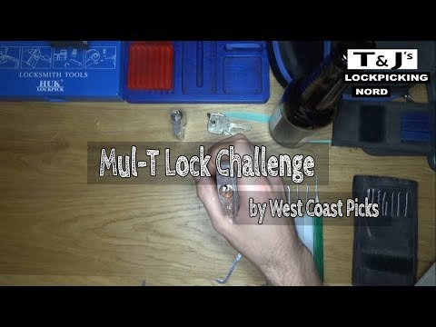 Взлом отмычками Mul-T-Lock   (73) Picking - West Coast Picks Mul-T Lock Challenge ()