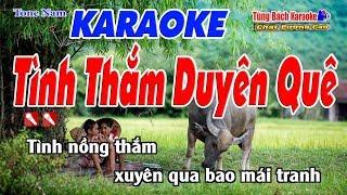 Tình Thắm Duyên Quê Karaoke 123 HD (Tone Nam) - Nhạc Sống Tùng Bách