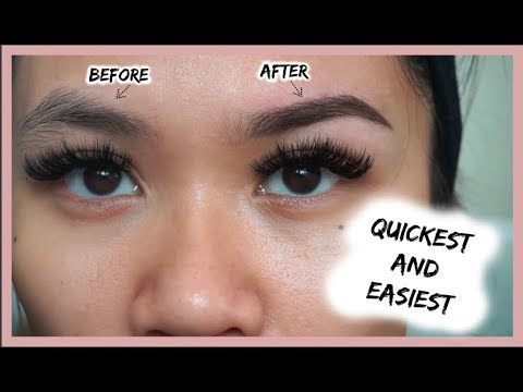HOW TO GROOM + SHAPE EYEBROWS AT HOME (EASIEST BEGINNER TUTORIAL)