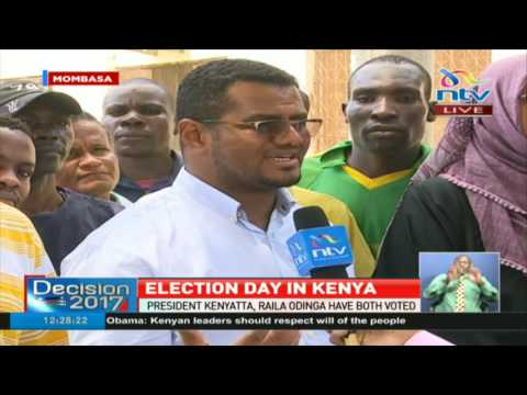 Mombasa Senator Hassan Omar on his voting experience -#ElectionsKE